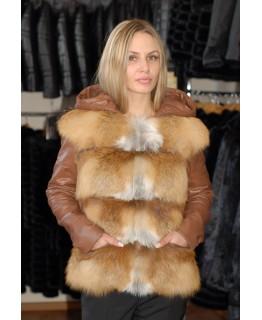 Меховая куртка из меха лисы арт. 919