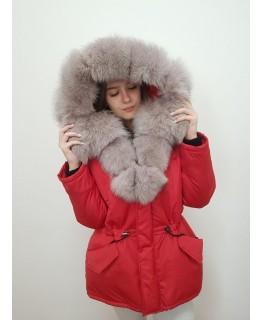 Куртка с мехом песца арт. 3327