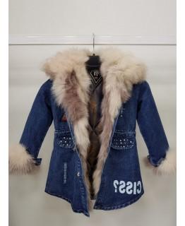 Зимова дитяча джинсовка арт. 2563