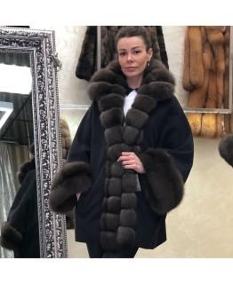 Пальто с мехом куницы арт. 3446